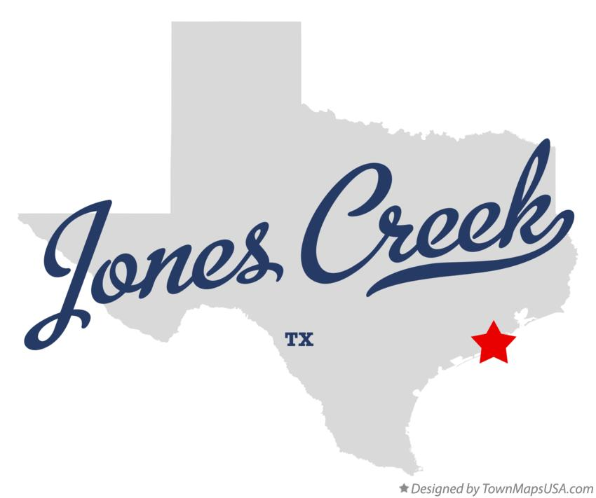 Map of Jones Creek Texas TX