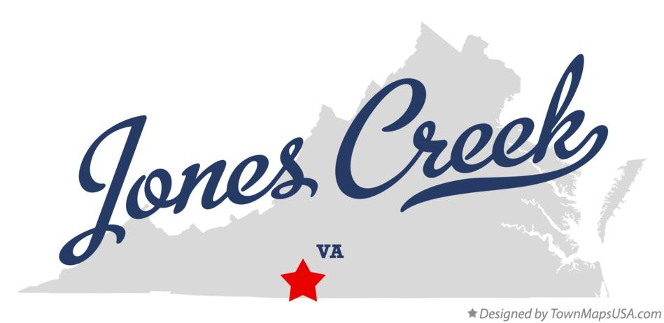 Map of Jones Creek Virginia VA