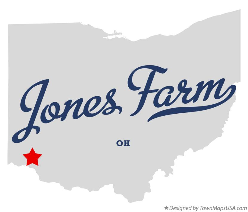 Map of Jones Farm Ohio OH