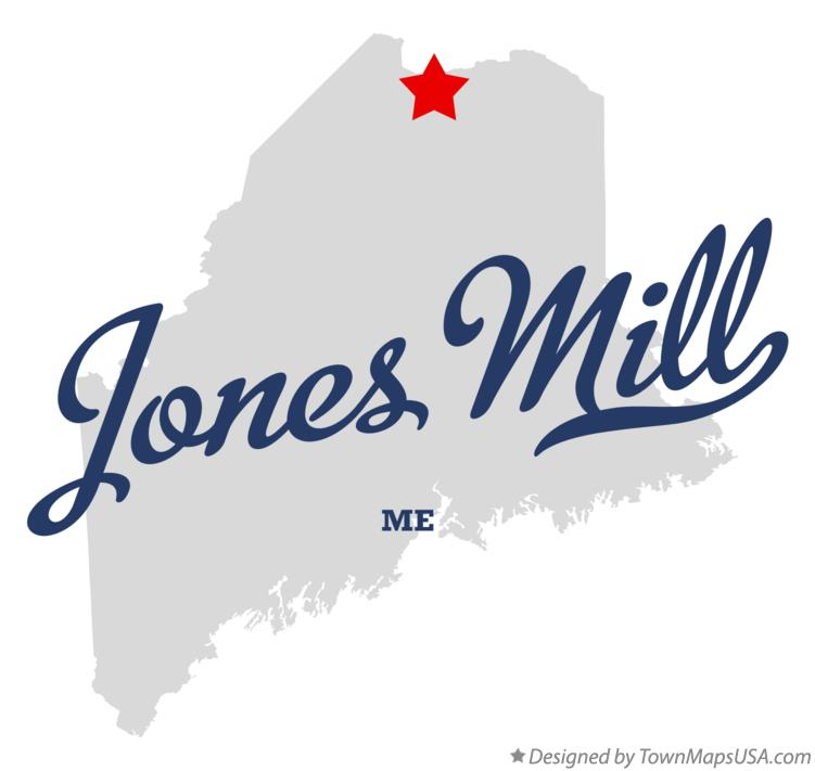Map of Jones Mill Maine ME