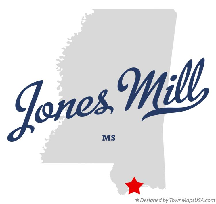 Map of Jones Mill Mississippi MS