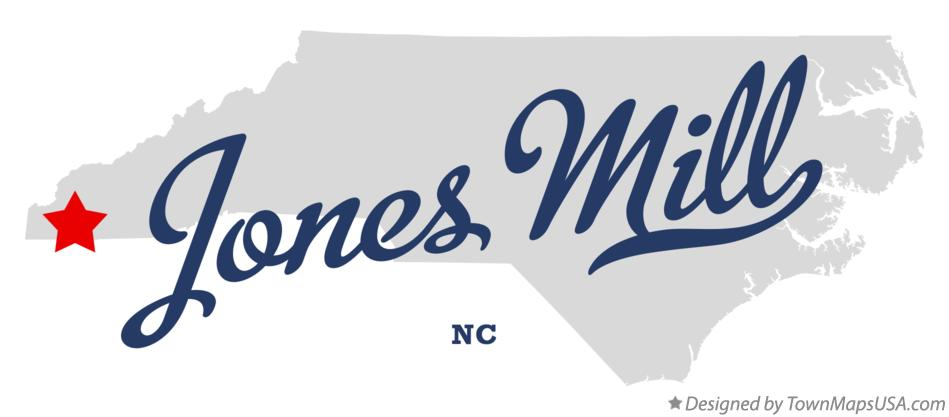 Map of Jones Mill North Carolina NC