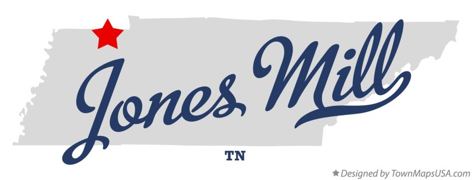 Map of Jones Mill Tennessee TN