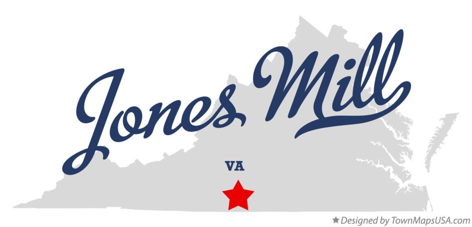 Map of Jones Mill Virginia VA