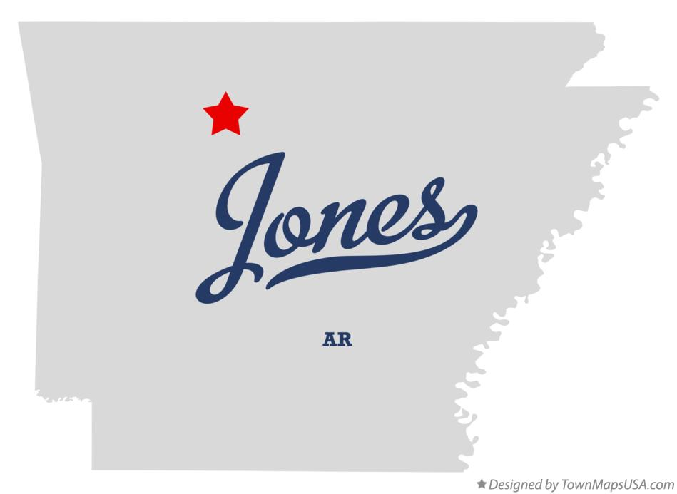 Map of Jones Arkansas AR