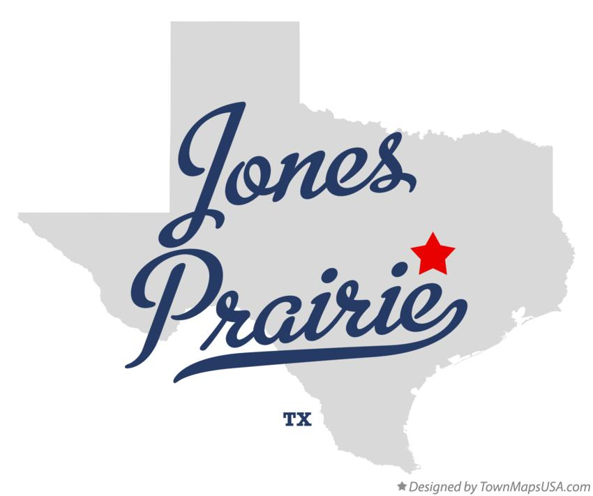 Map of Jones Prairie Texas TX