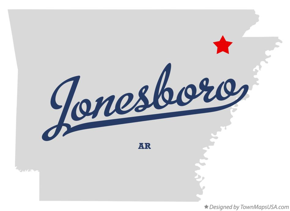 Map of Jonesboro Arkansas AR