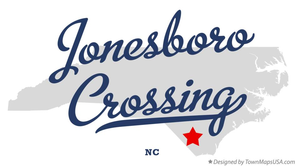 Map of Jonesboro Crossing North Carolina NC