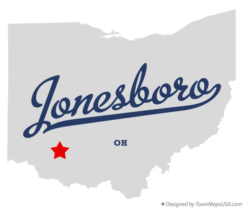 Map of Jonesboro Ohio OH