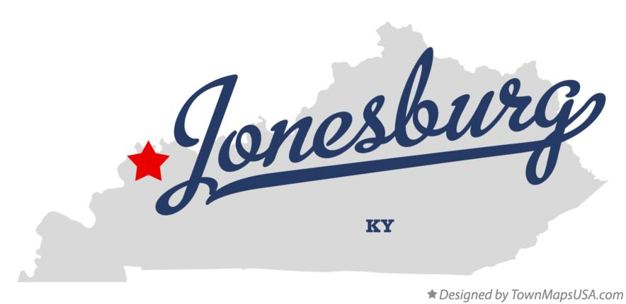 Map of Jonesburg Kentucky KY
