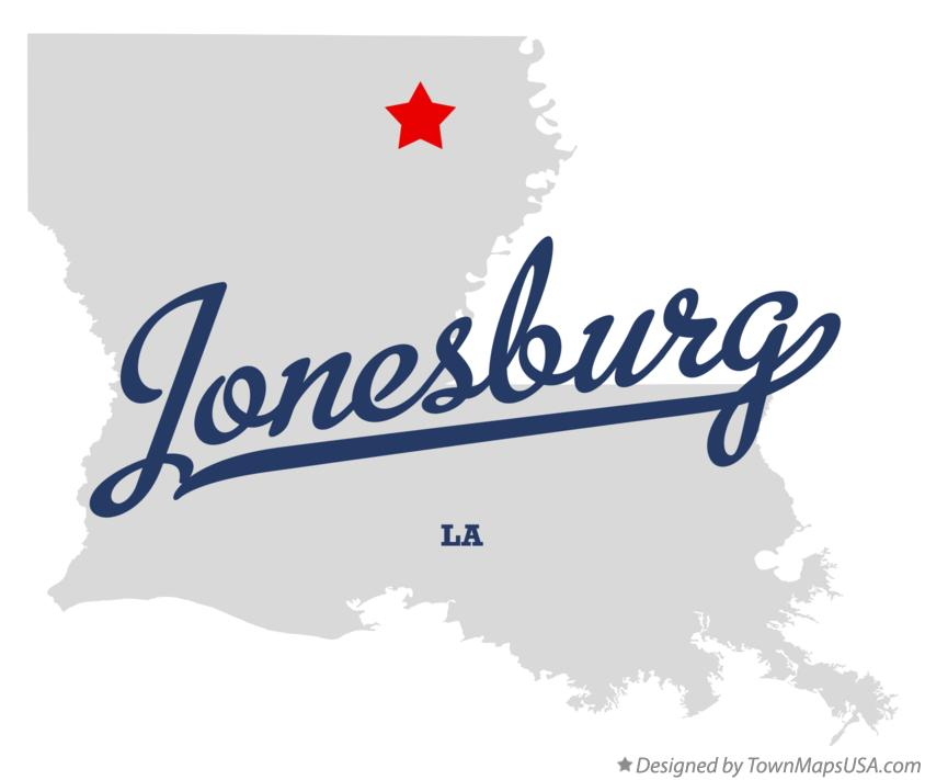 Map of Jonesburg Louisiana LA