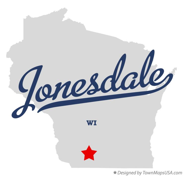 Map of Jonesdale Wisconsin WI