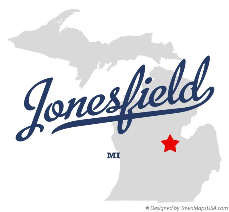 Map of Jonesfield Michigan MI