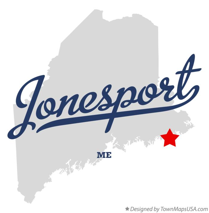 Map of Jonesport Maine ME