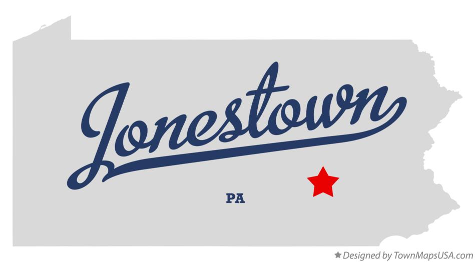 Map of Jonestown Pennsylvania PA