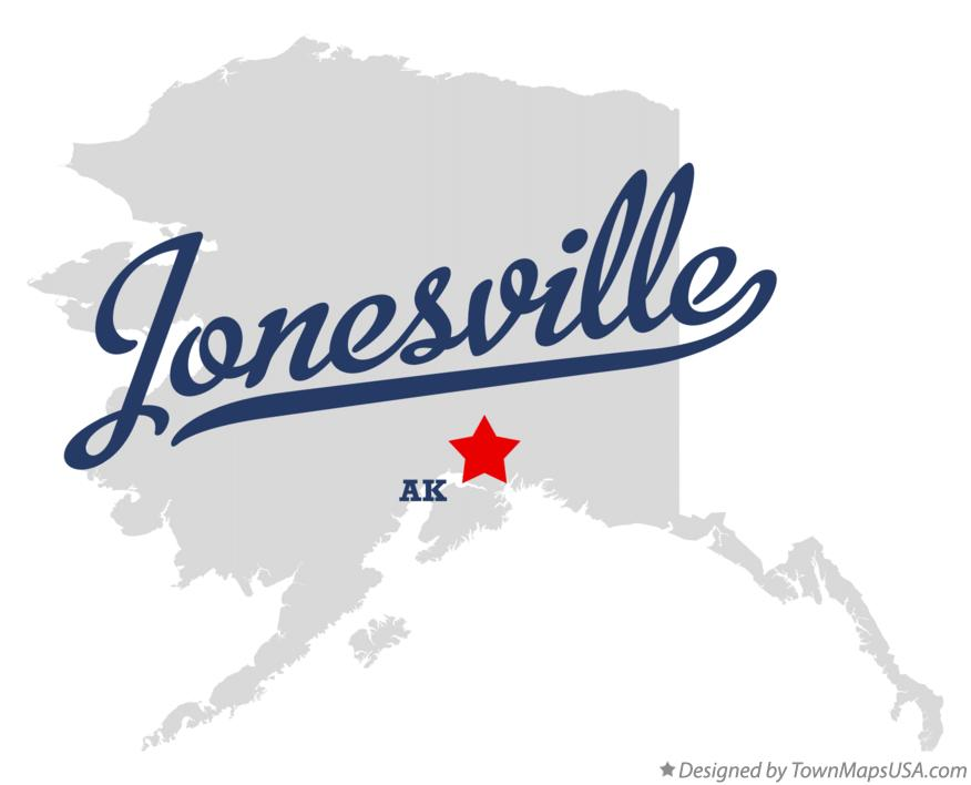 Map of Jonesville Alaska AK
