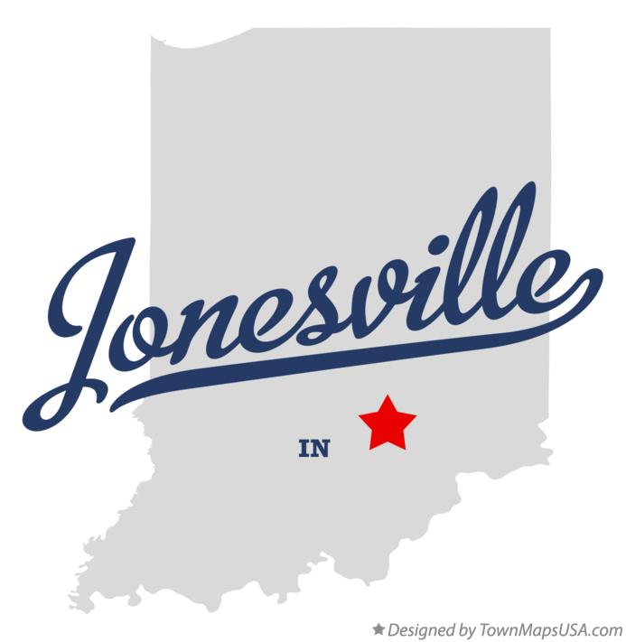 Map of Jonesville Indiana IN