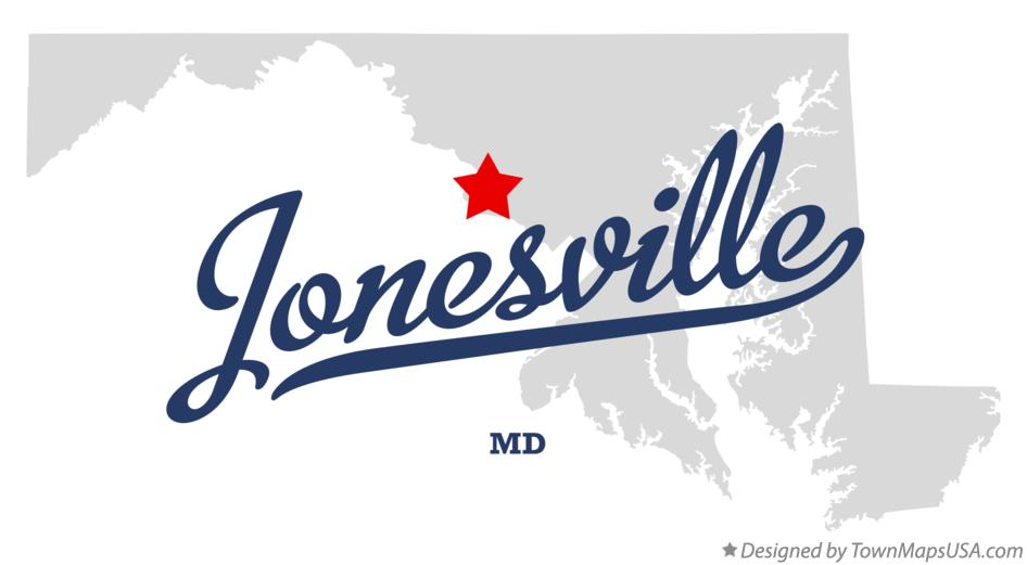 Map of Jonesville Maryland MD