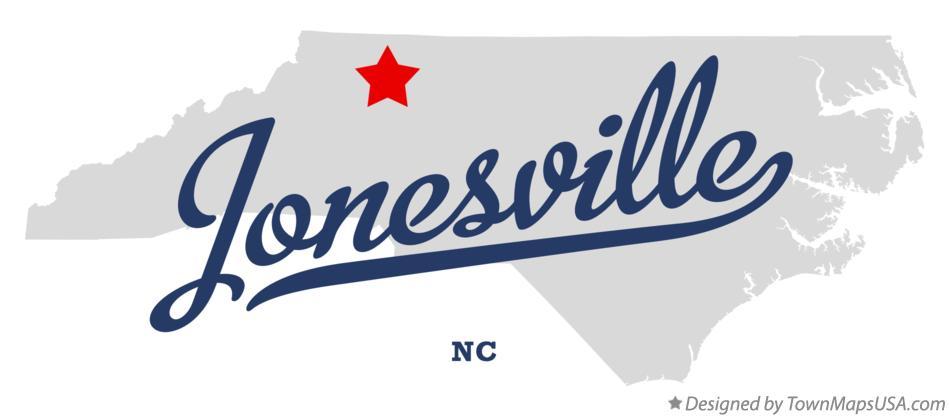 Jonesville Nc Map.Map Of Jonesville Nc North Carolina