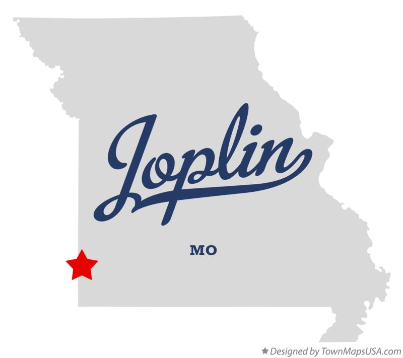 Map of Joplin MO Missouri