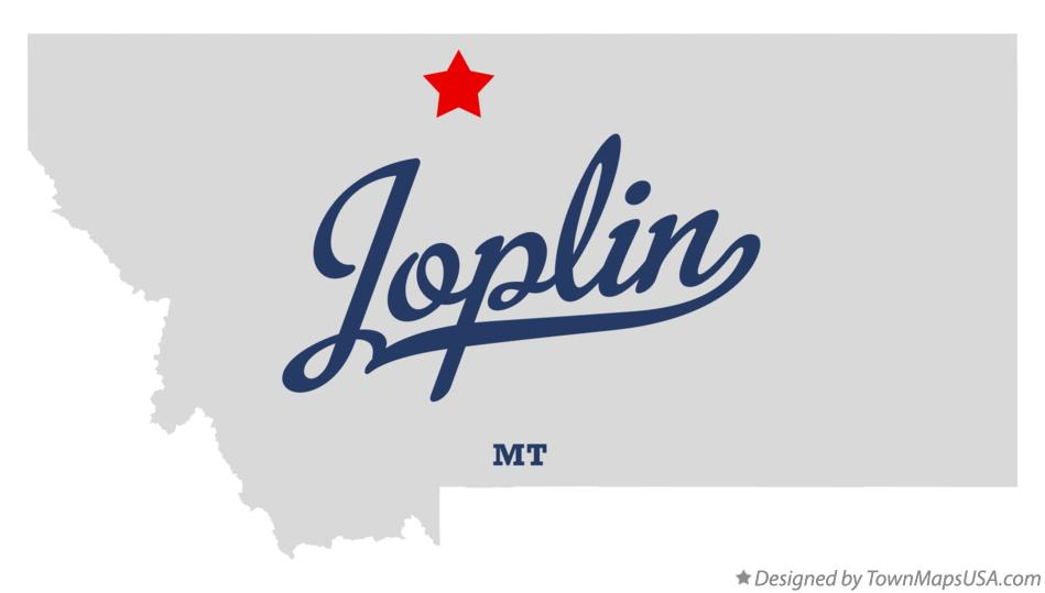 Map of Joplin Montana MT