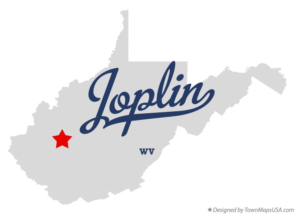 Map of Joplin West Virginia WV