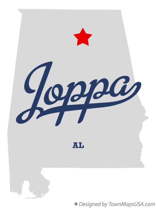 Map of Joppa Alabama AL