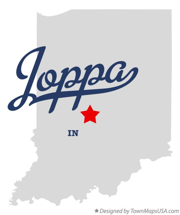 Map of Joppa Indiana IN