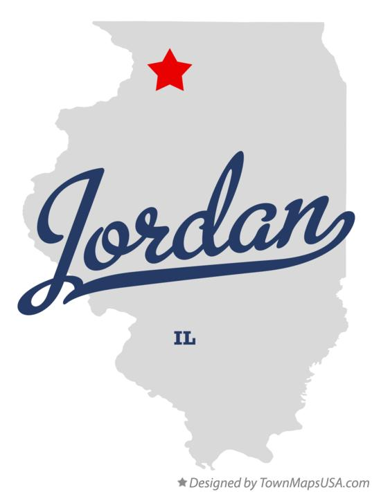 Map of Jordan Illinois IL