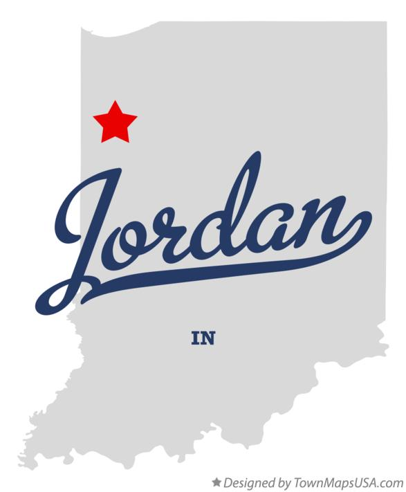 Map of Jordan Indiana IN
