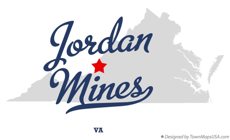 Map of Jordan Mines Virginia VA