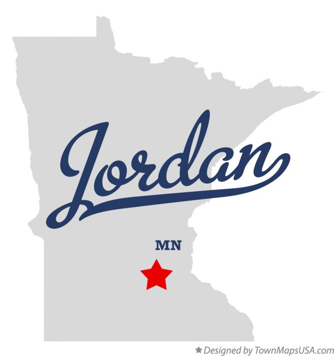 Map of Jordan Minnesota MN