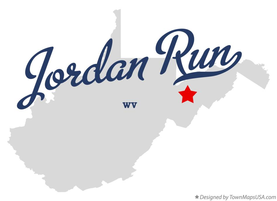 Map of Jordan Run West Virginia WV