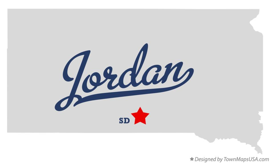 Map of Jordan South Dakota SD