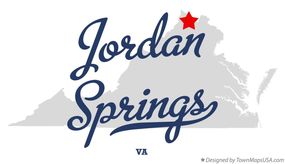Map of Jordan Springs Virginia VA