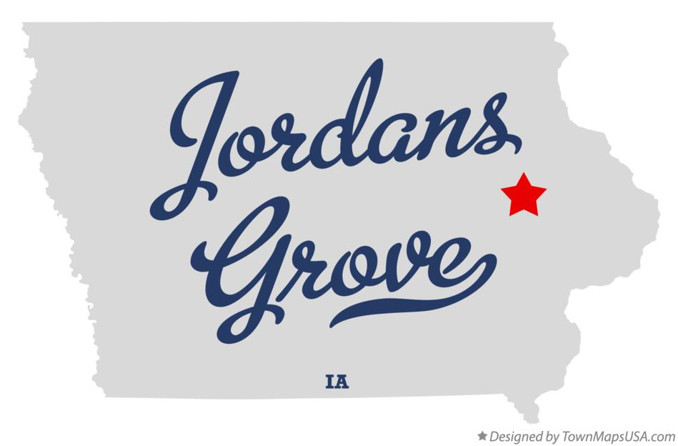 Map of Jordans Grove Iowa IA