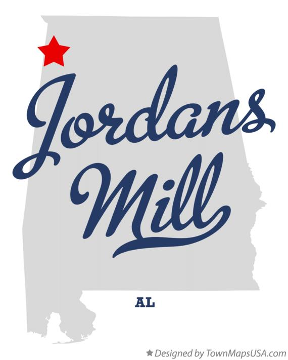 Map of Jordans Mill Alabama AL