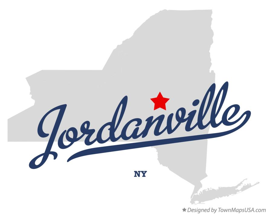 Map of Jordanville New York NY
