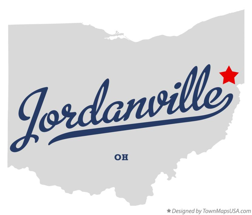 Map of Jordanville Ohio OH