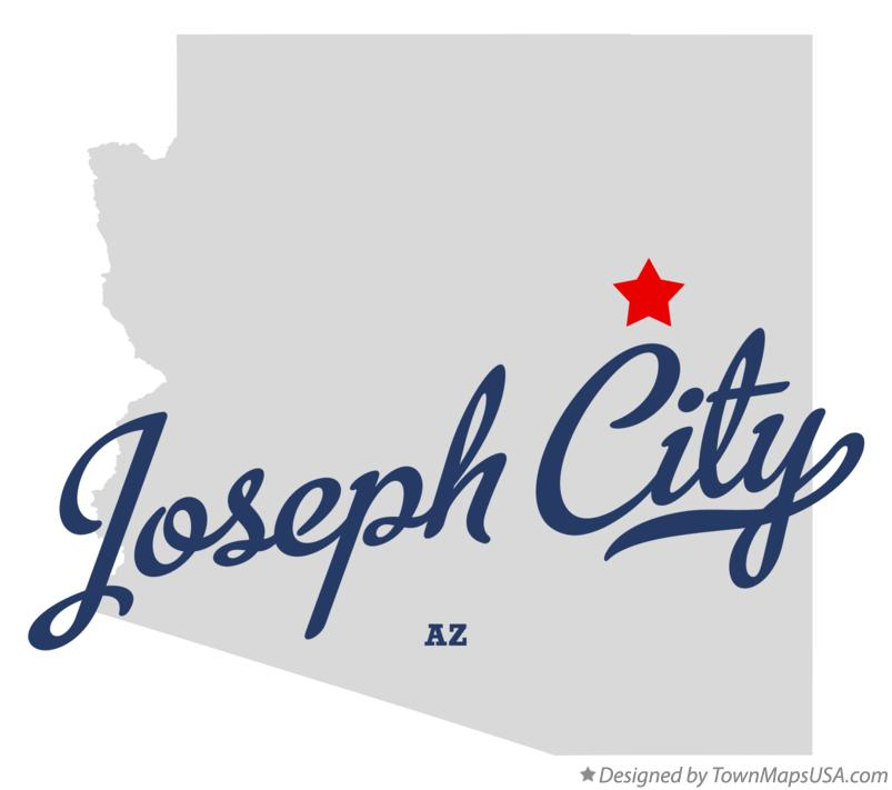 Map of Joseph City Arizona AZ