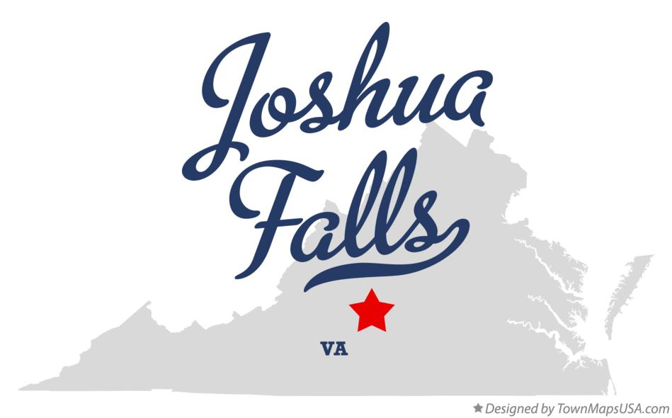 Map of Joshua Falls Virginia VA