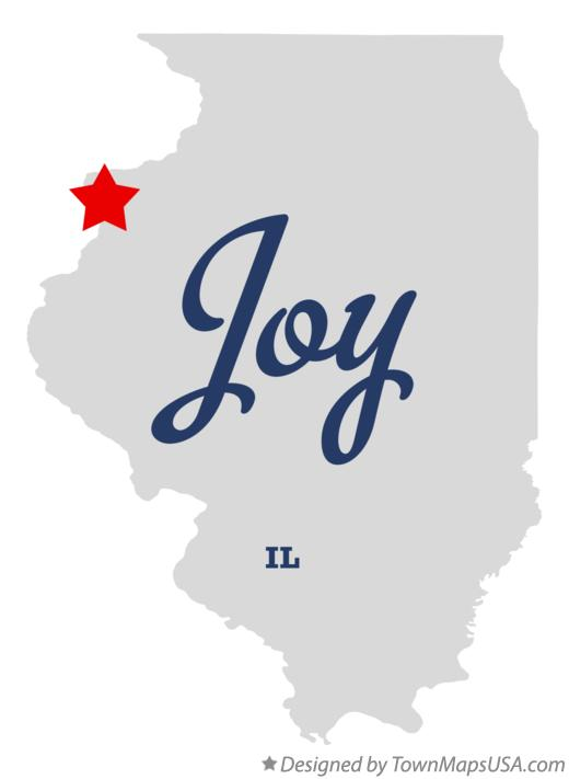 Map of Joy Illinois IL
