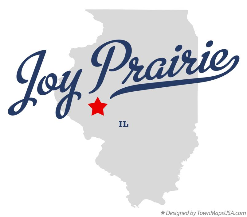 Map of Joy Prairie Illinois IL