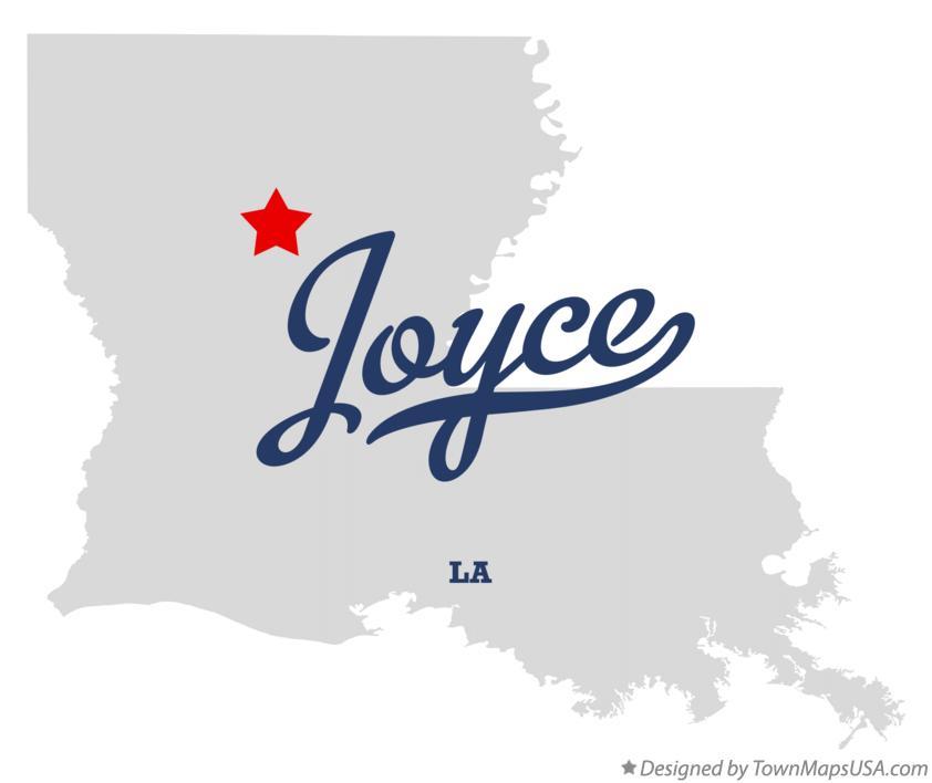 Map of Joyce, LA, Louisiana