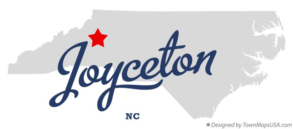 Map of Joyceton North Carolina NC