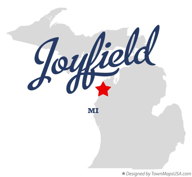 Map of Joyfield Michigan MI