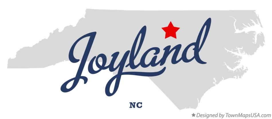 Map of Joyland North Carolina NC