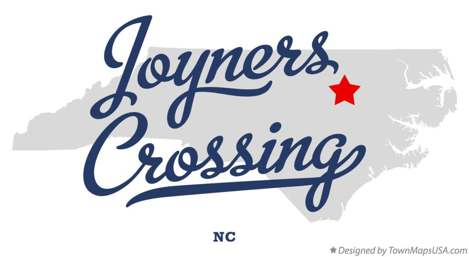Map of Joyners Crossing North Carolina NC