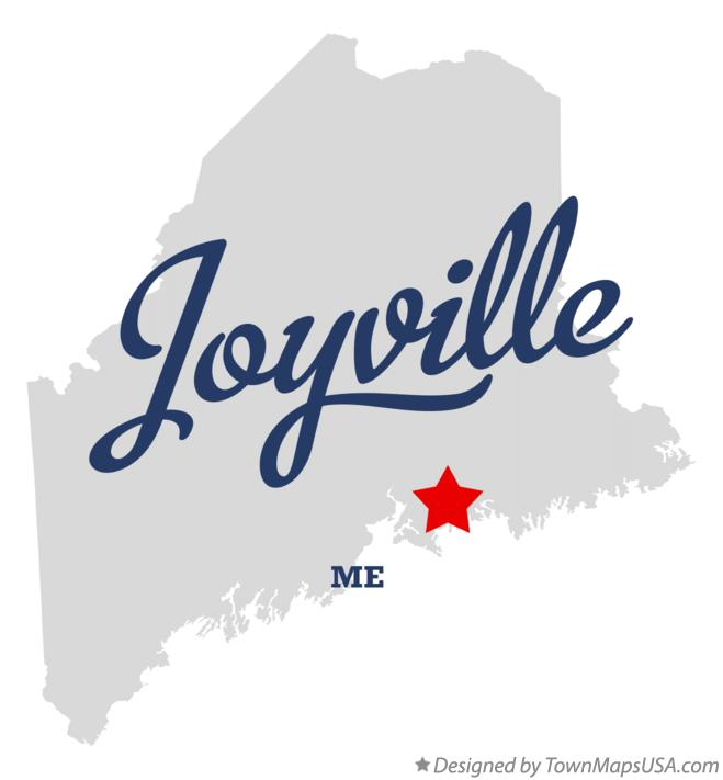 Map of Joyville Maine ME