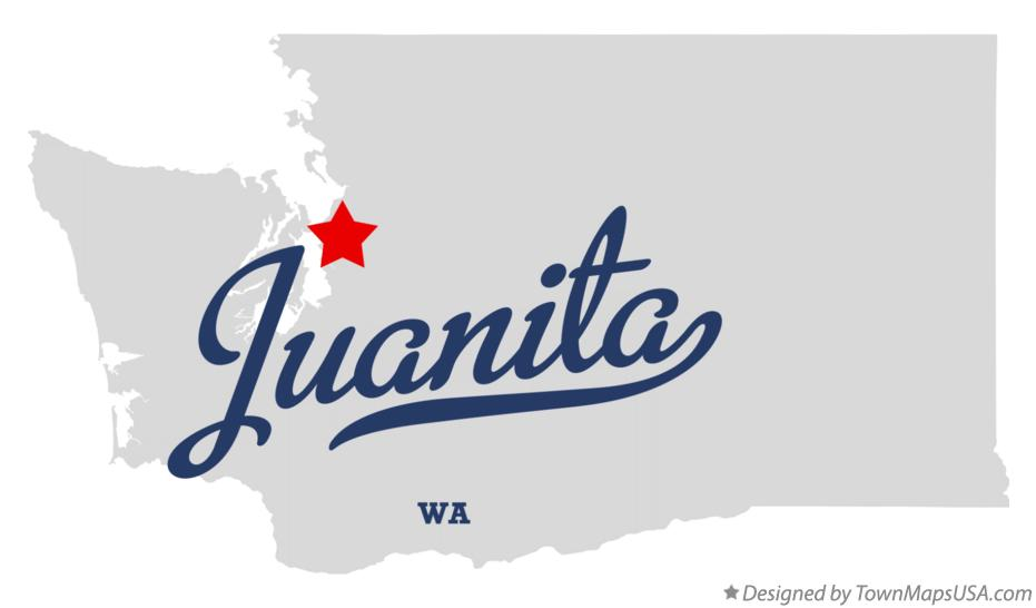 Map of Juanita Washington WA